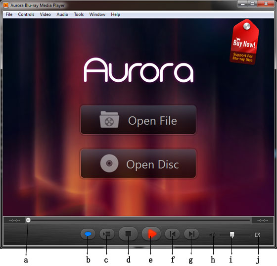 Aurora Blu-ray Player Interface