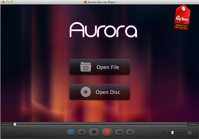 Aurora Blu-ray Player for Mac Screen shot